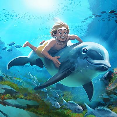Matt olson dolphin boy2