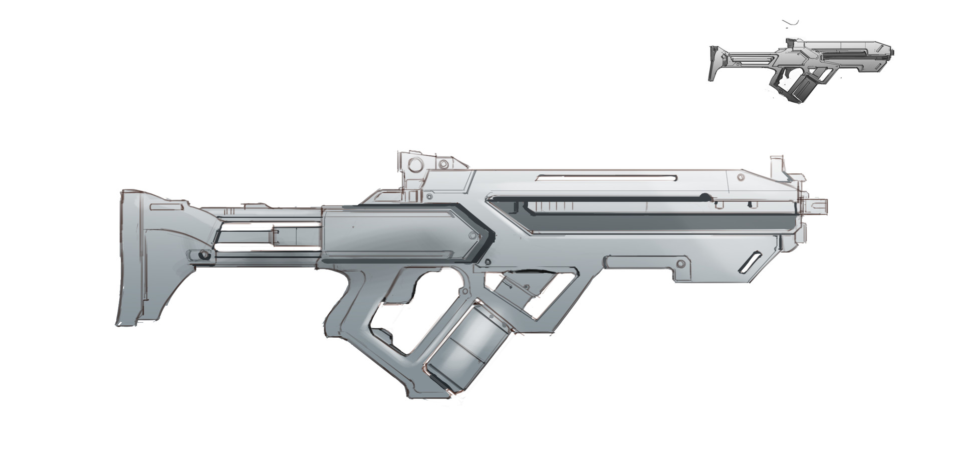 Brian yam grayscale weapon graphic