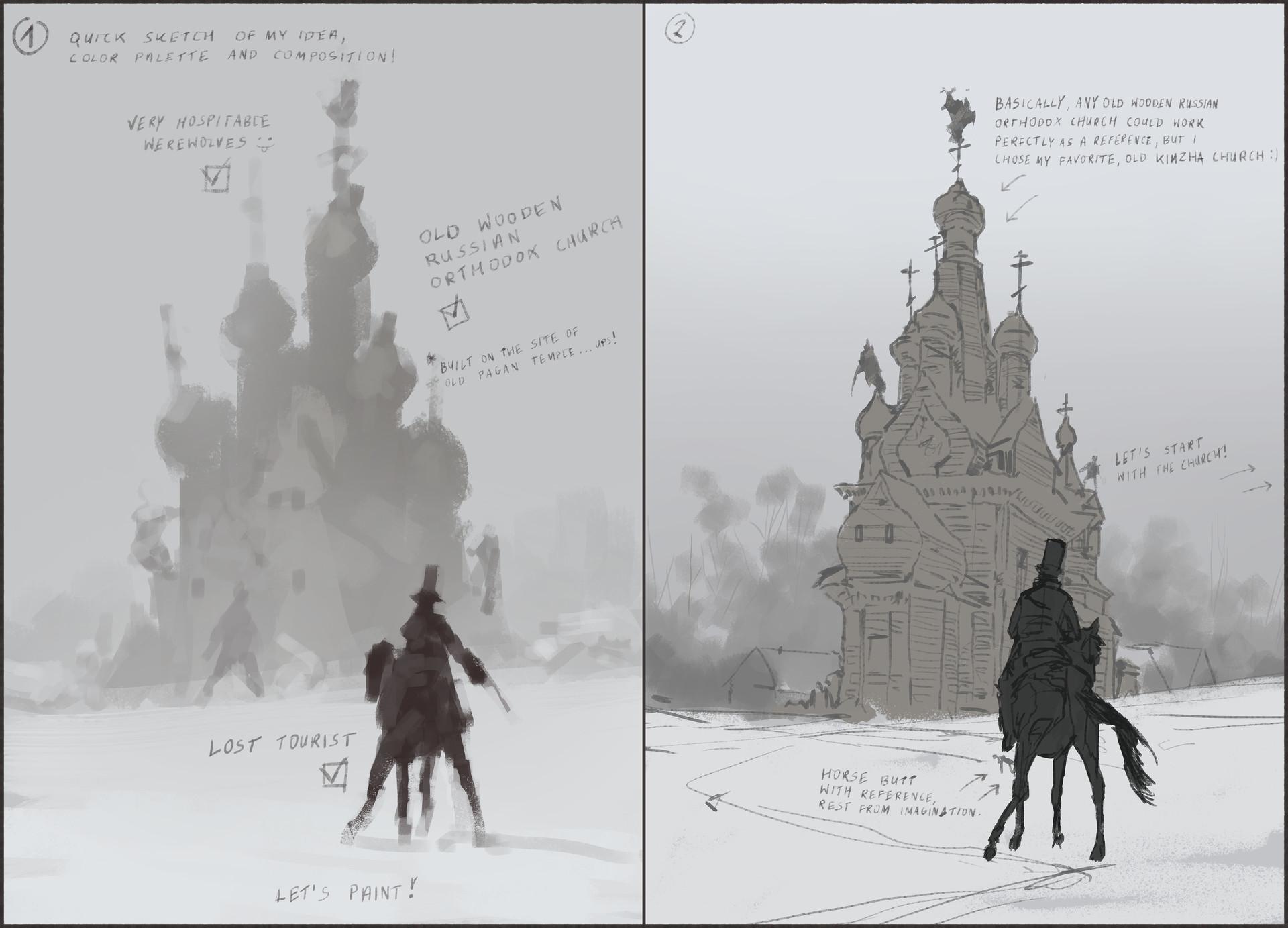 Jakub rozalski unholy land werewolf01process01