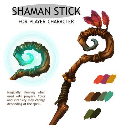Laura bevon ac shamanstick by laurabevon