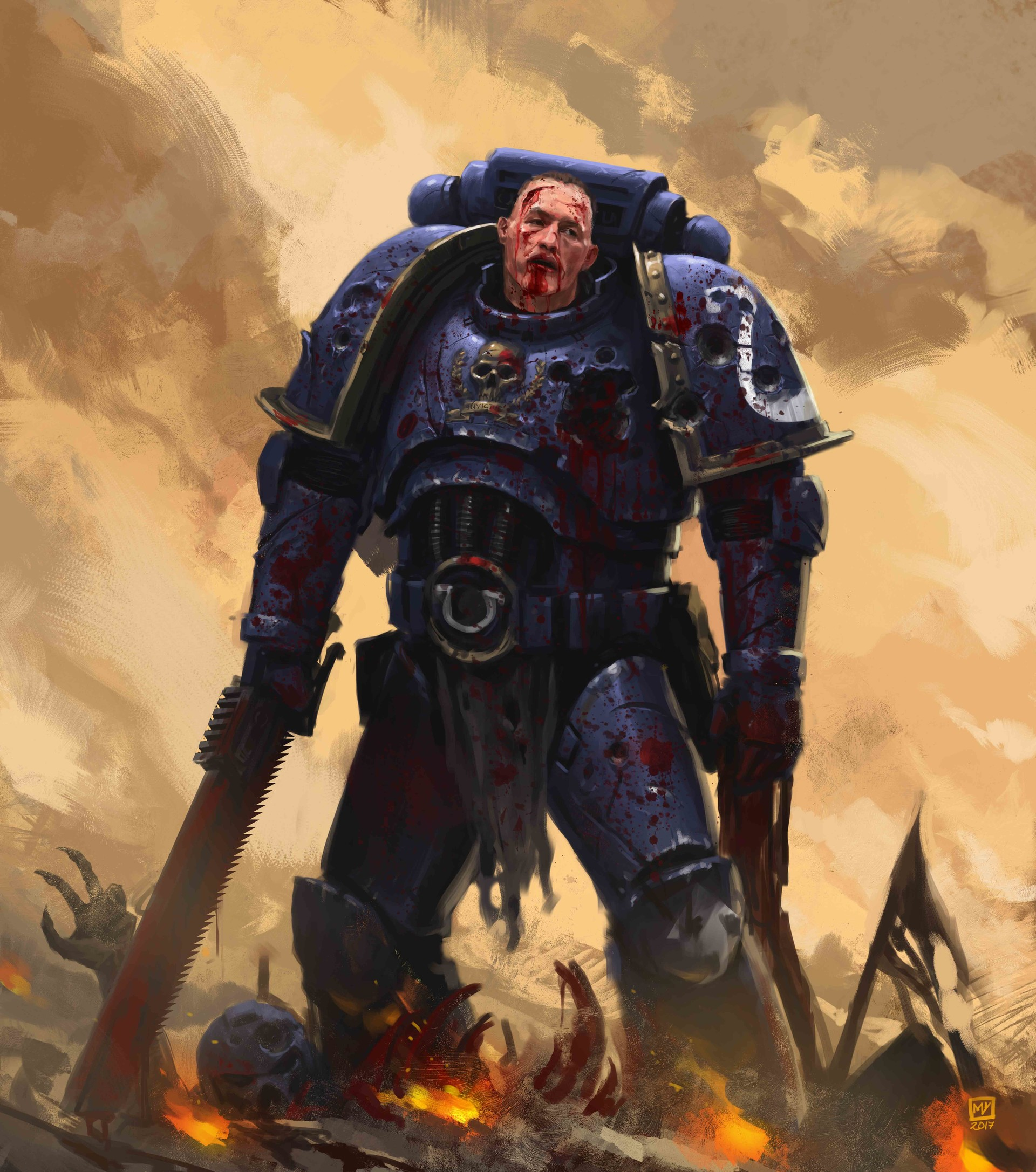 General Warhammer 40k Space Marines: Space Marine After The Battle