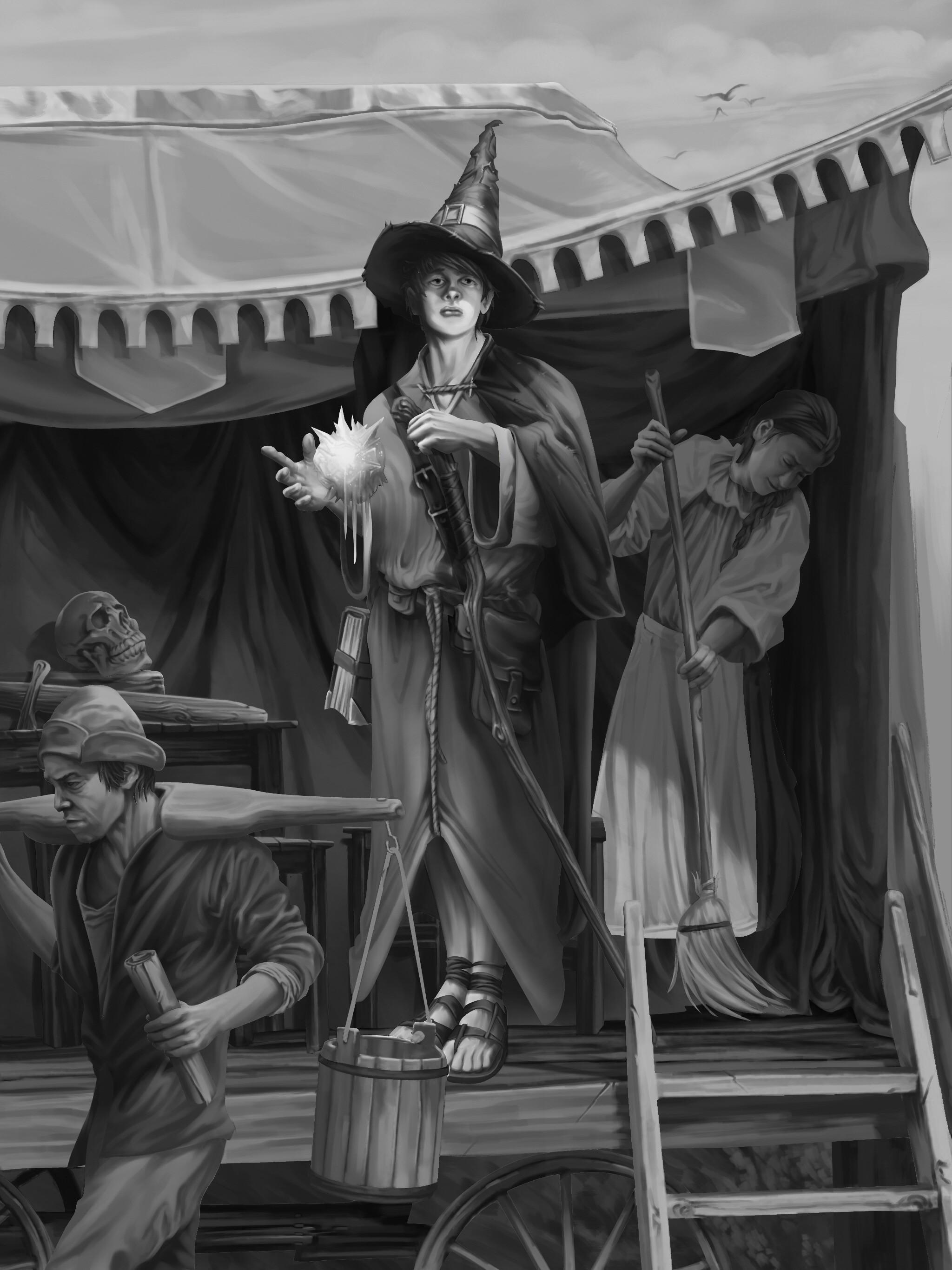 Teenage Wizard - Gray render