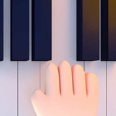 Tzu yu kao at cartoon hands playing piano0625ss