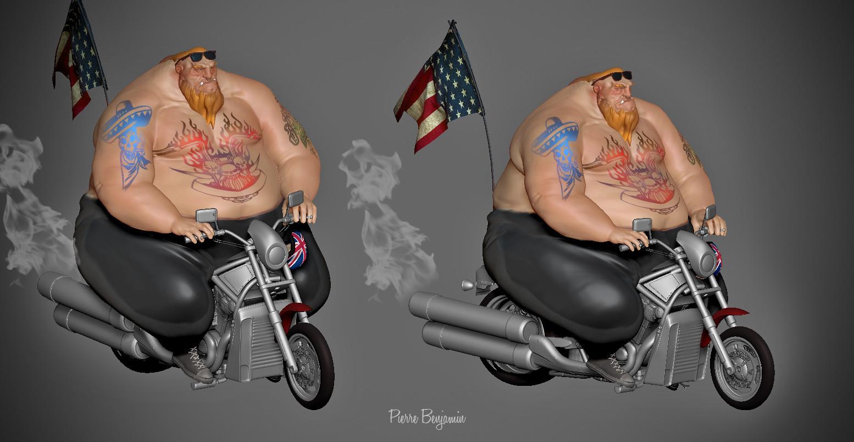 Pierre benjamin biker new render
