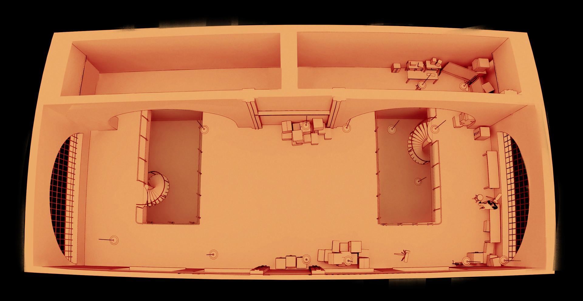 Layout: entire top floor