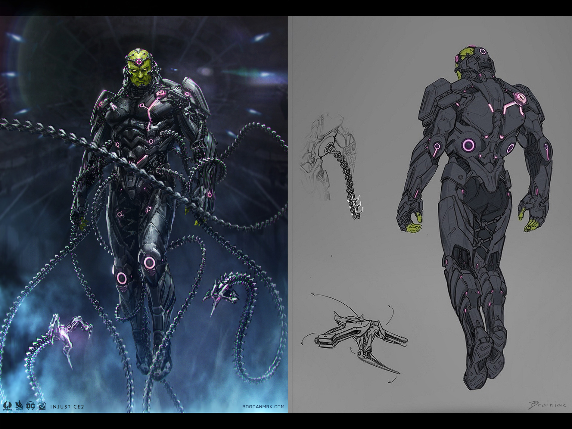 Bogdan marica bogdanmrk brainiac injustice 2 back view