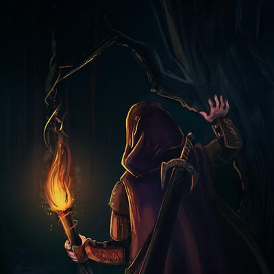 Alessandro bora perso nel bosco