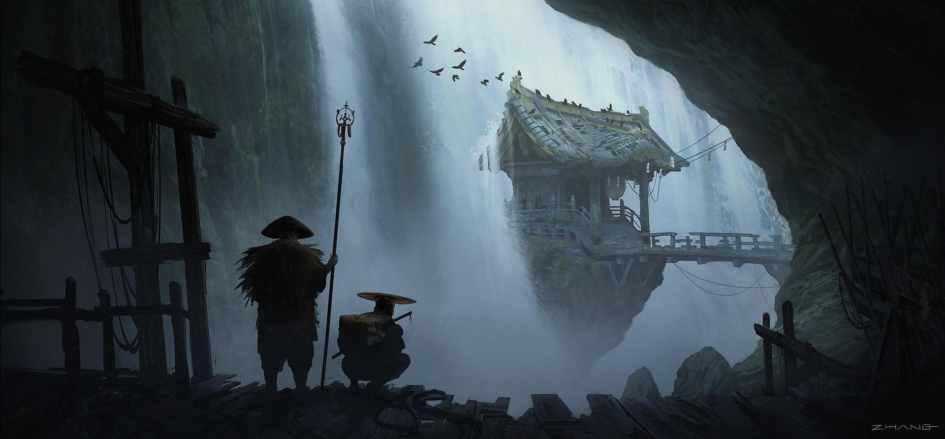 Pally zhang samurai hunt waterfall village a06 pz small