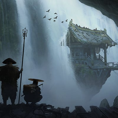 Pally zhang samurai hunt waterfall village a06 pz small