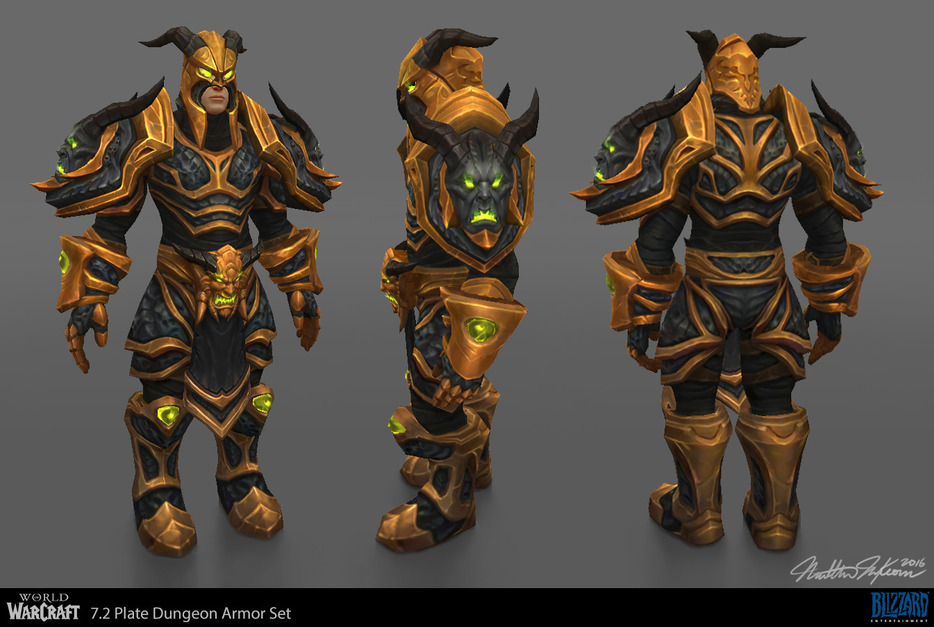 Color Variations & ArtStation - World of Warcraft - 7.2 Plate Dungeon Armor Set ...