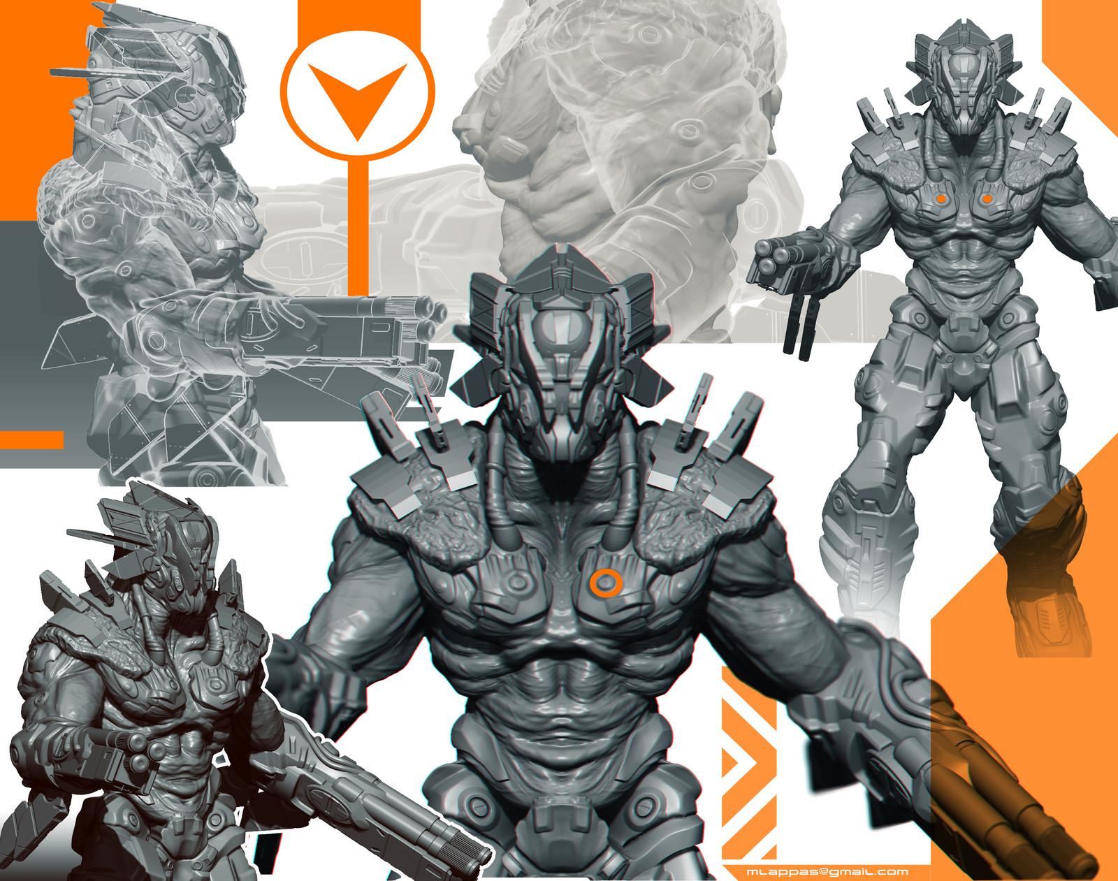 Cyborg Warrior 3D concept