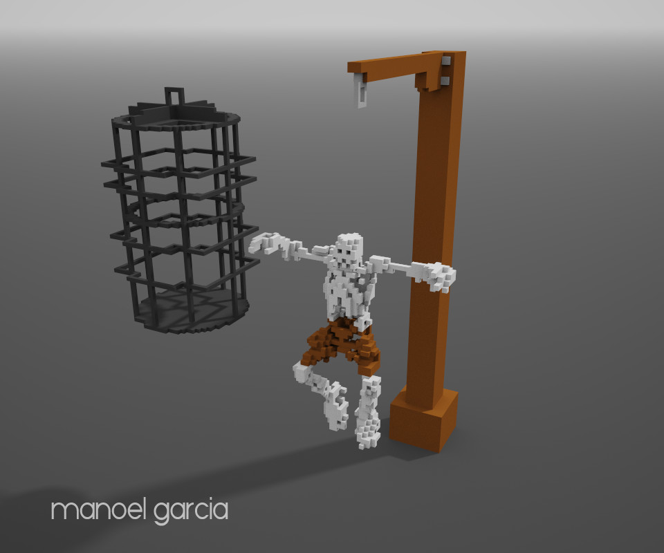 Medieval Hanging Cage