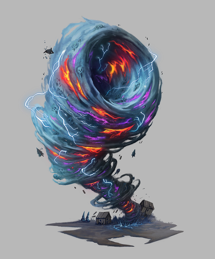 Magical tornado concept