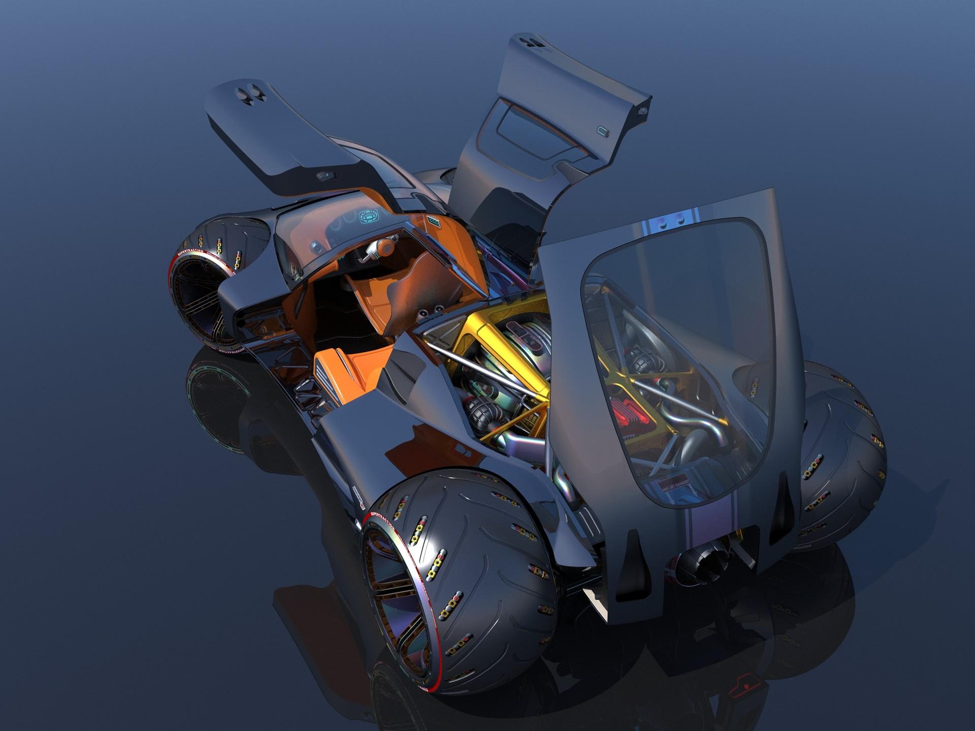 Joachim sverd supercar concept44 doors open