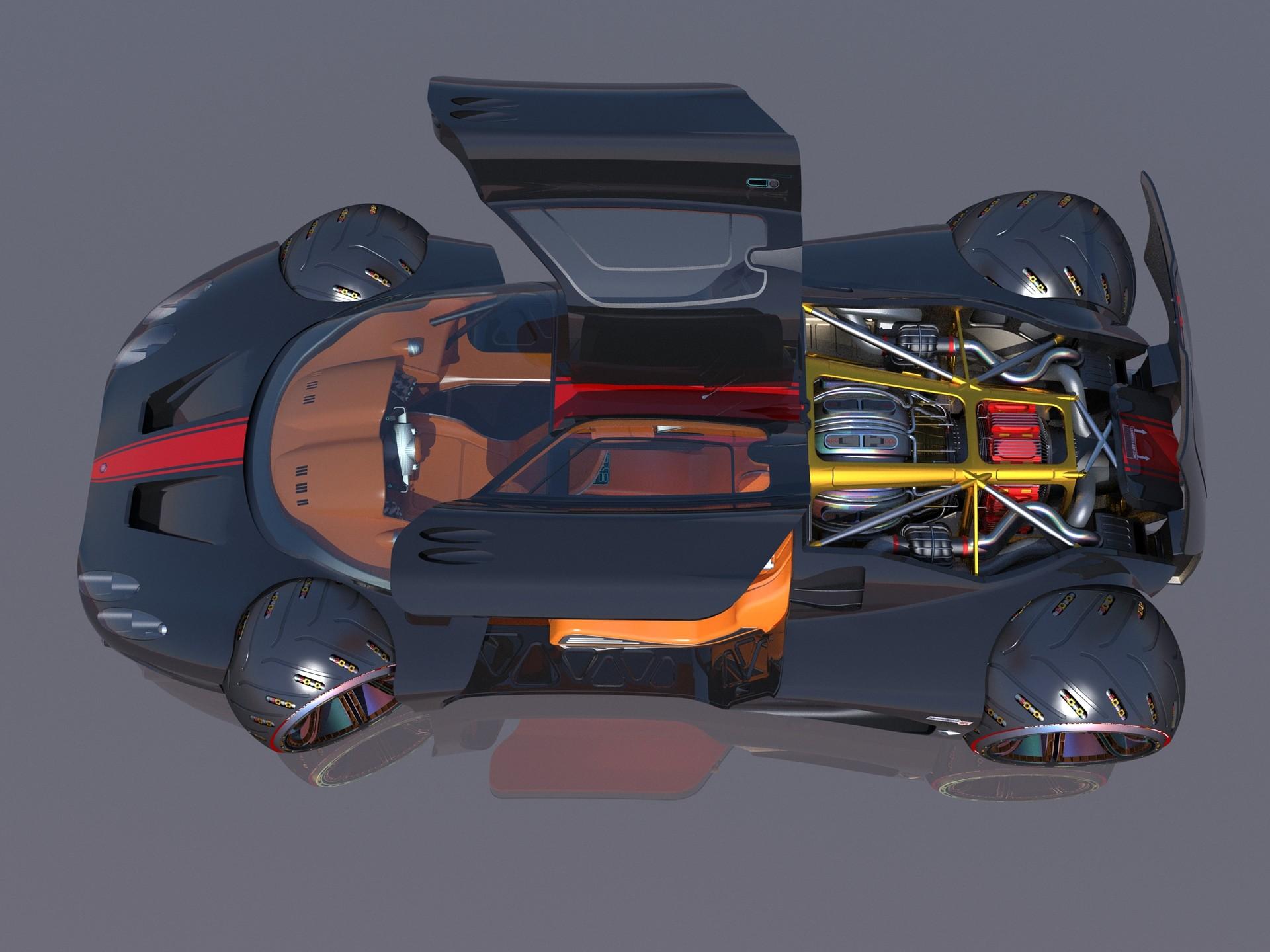Joachim sverd supercar concept47doors open
