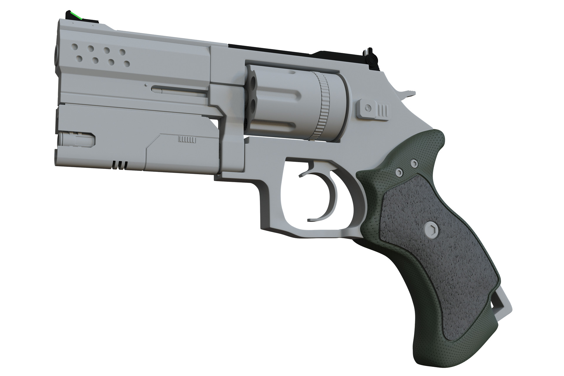 ArtStation - Smith and Wesson 686 Tactical Revolver, Wesley Johnson