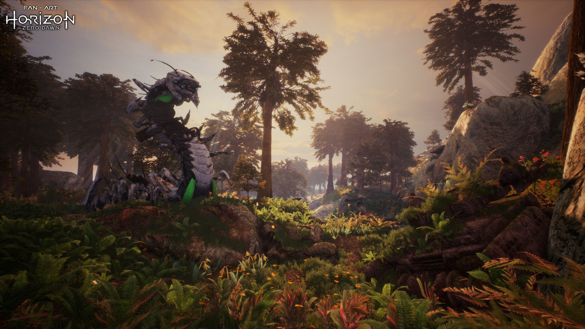 ArtStation - Horizon Zero Dawn Fan-art Environment with