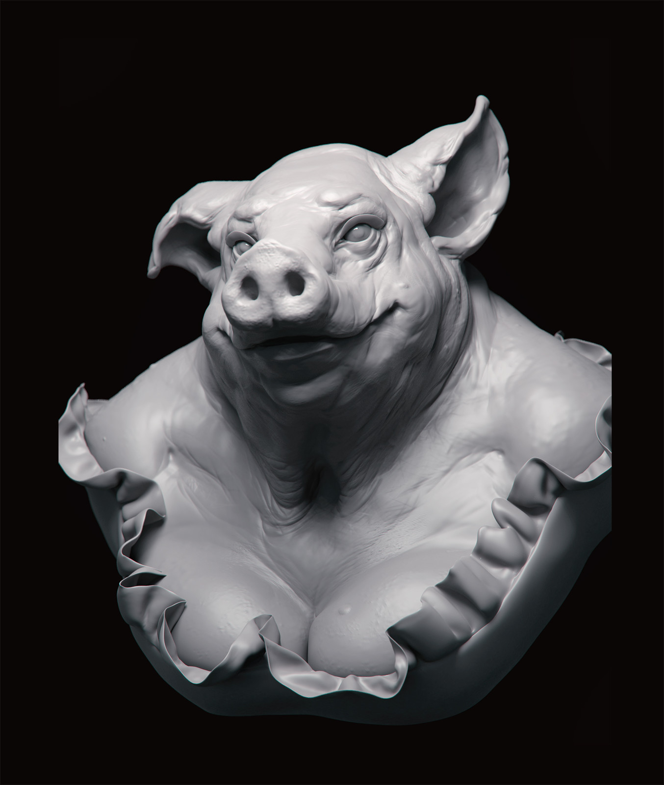 Miss Poppy - zbrush sketch rendered in Keyshot