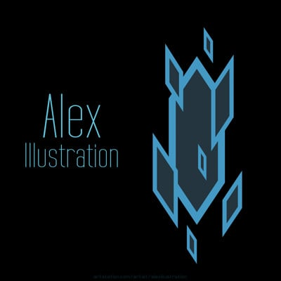Alex x x own logo artstation