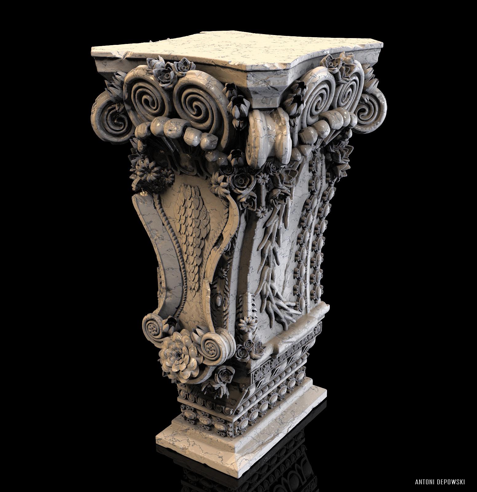 Antoni depowski baroque pedestal 2