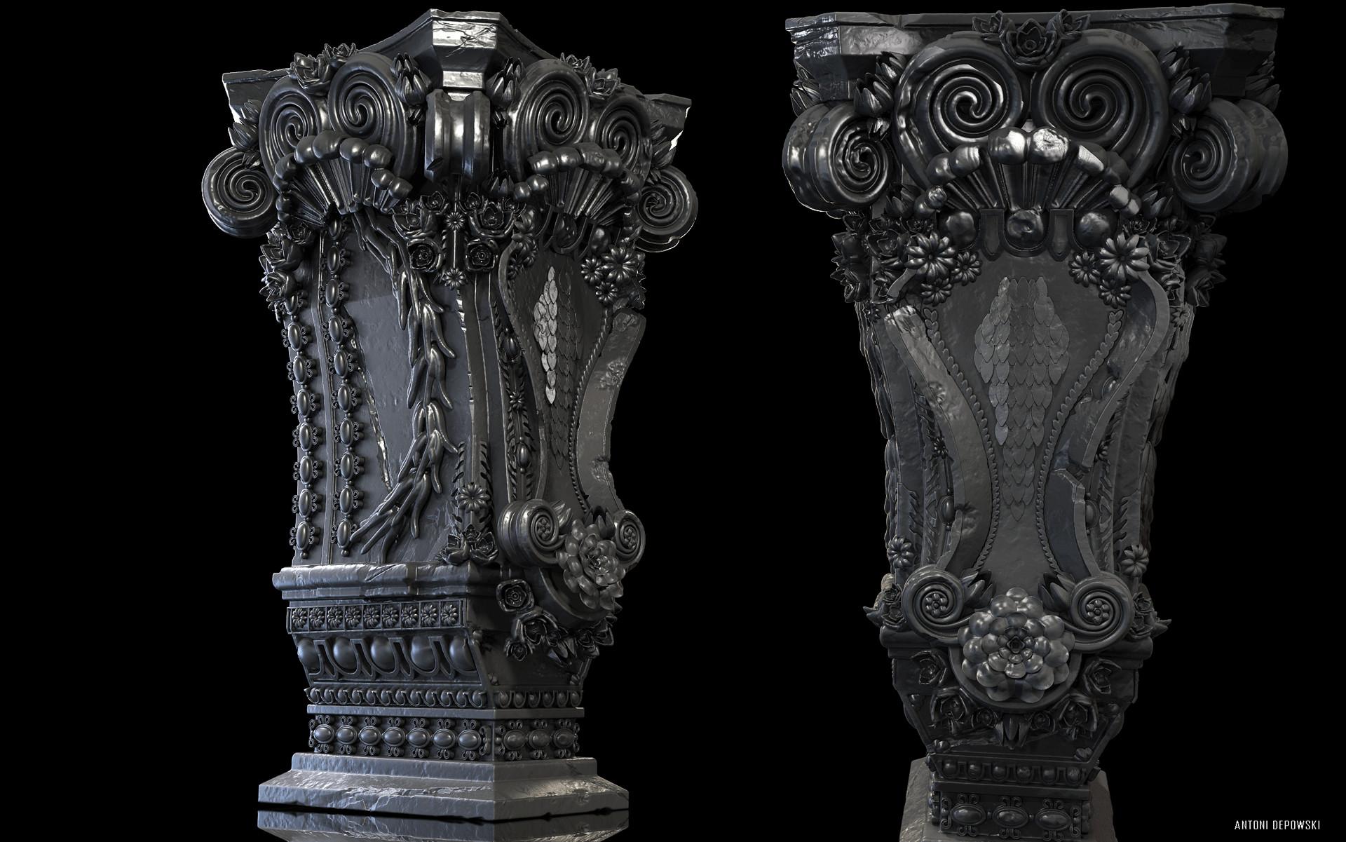 Antoni depowski baroque pedestal 4