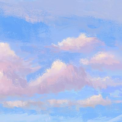 Michiel van den heuvel plein air clouds 2