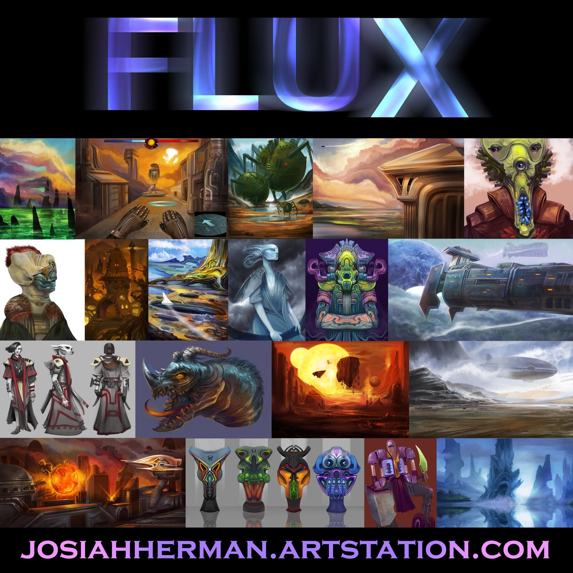 Josiah herman flux bfa atrium poster