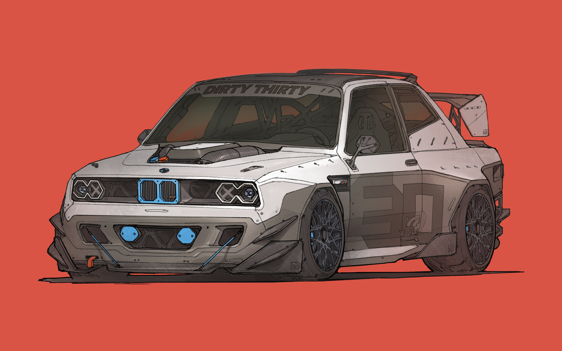 danny gardner - e30 m3 project car concept design