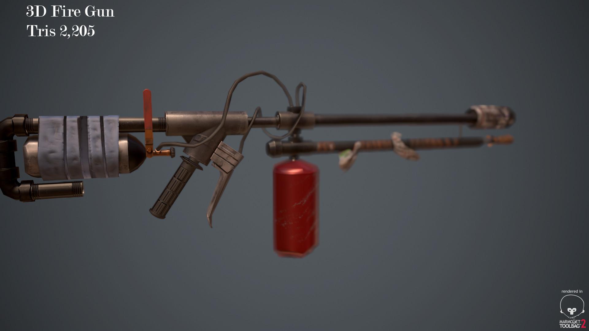 ArtStation - 3D Fire_Gun , Keshri Nandan Sharma