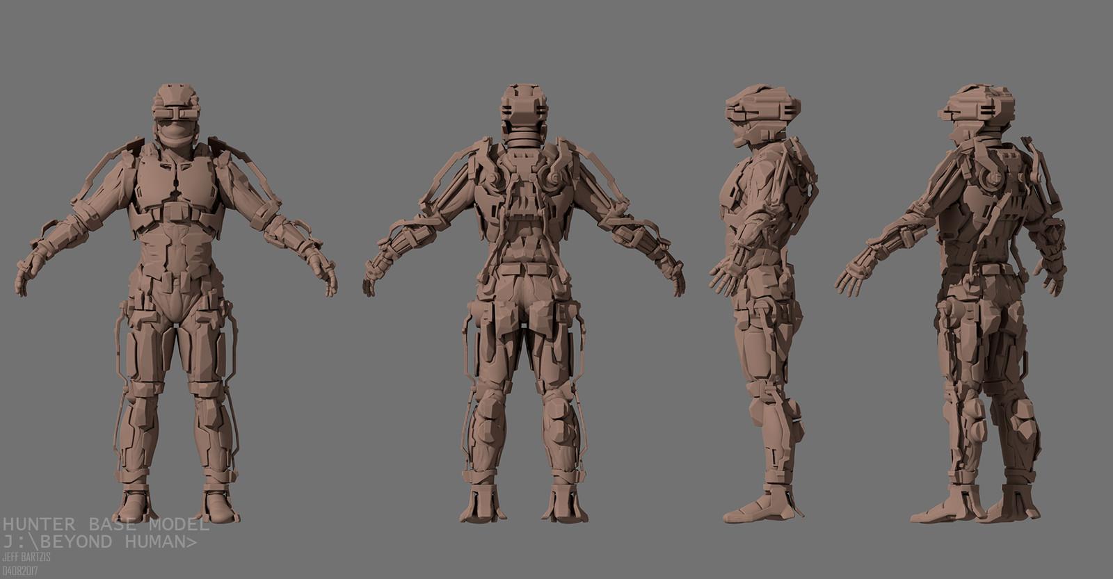 3dcoat sculpture of the hunter