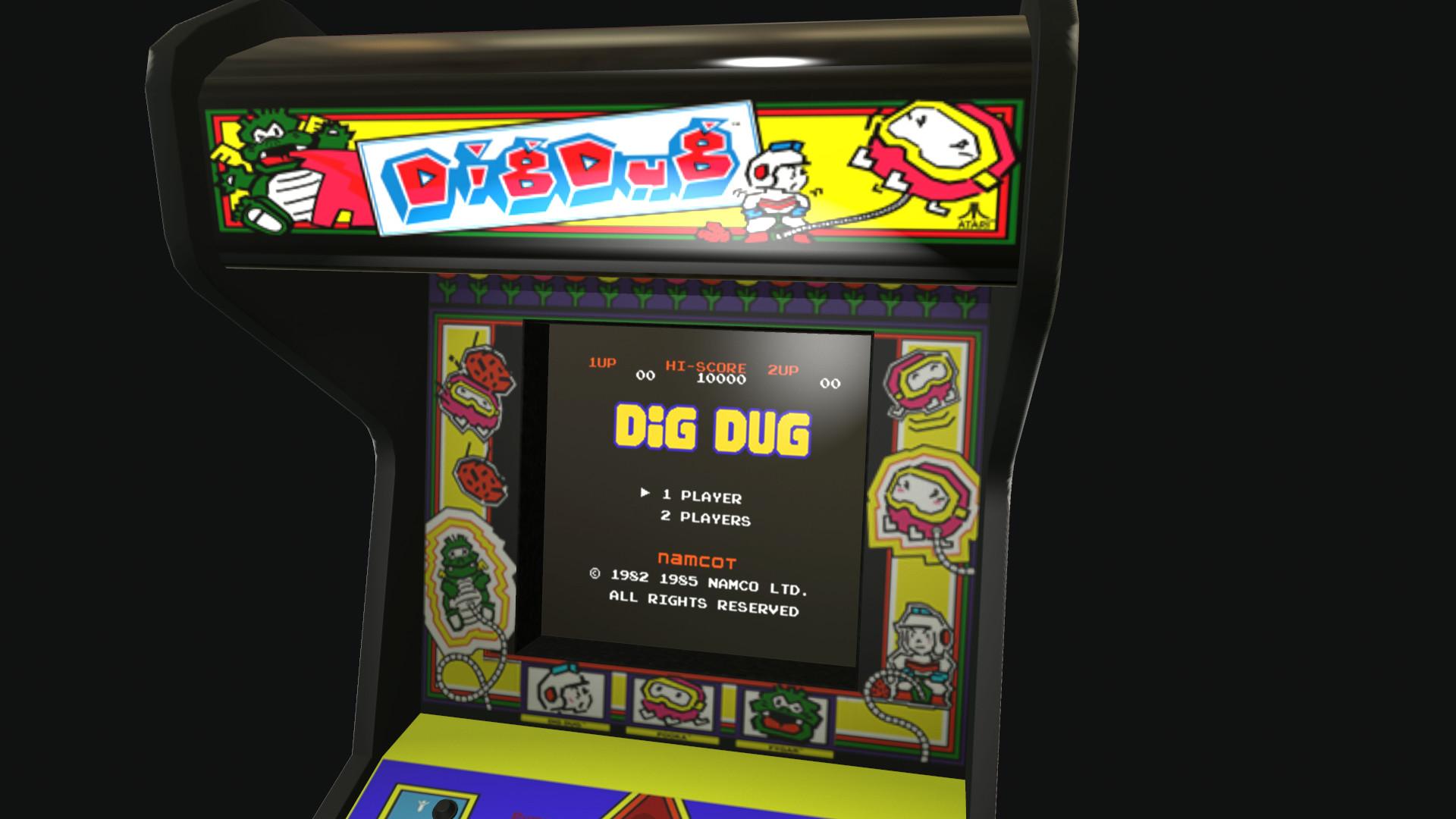 Artstation Dig Dug Arcade Cabinet Jake Linda