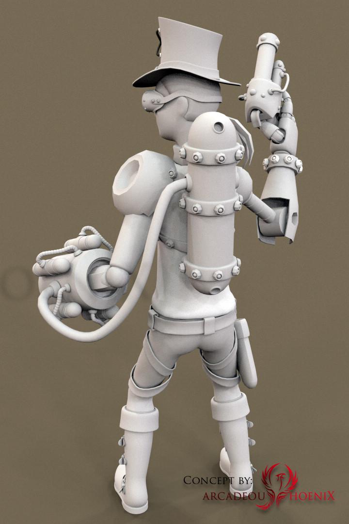 Arcadeous phoenix steampunk char b