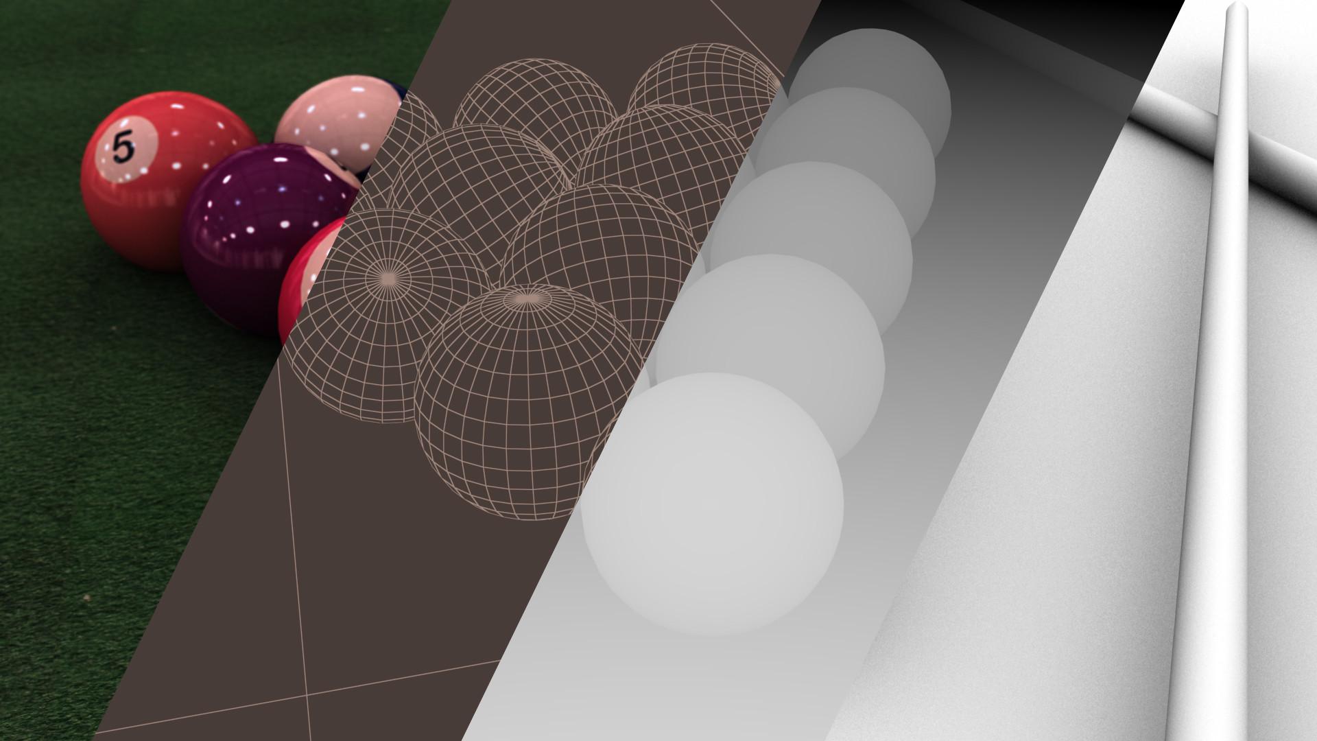 ArtStation Ball Omri Schick - Pool table breakdown