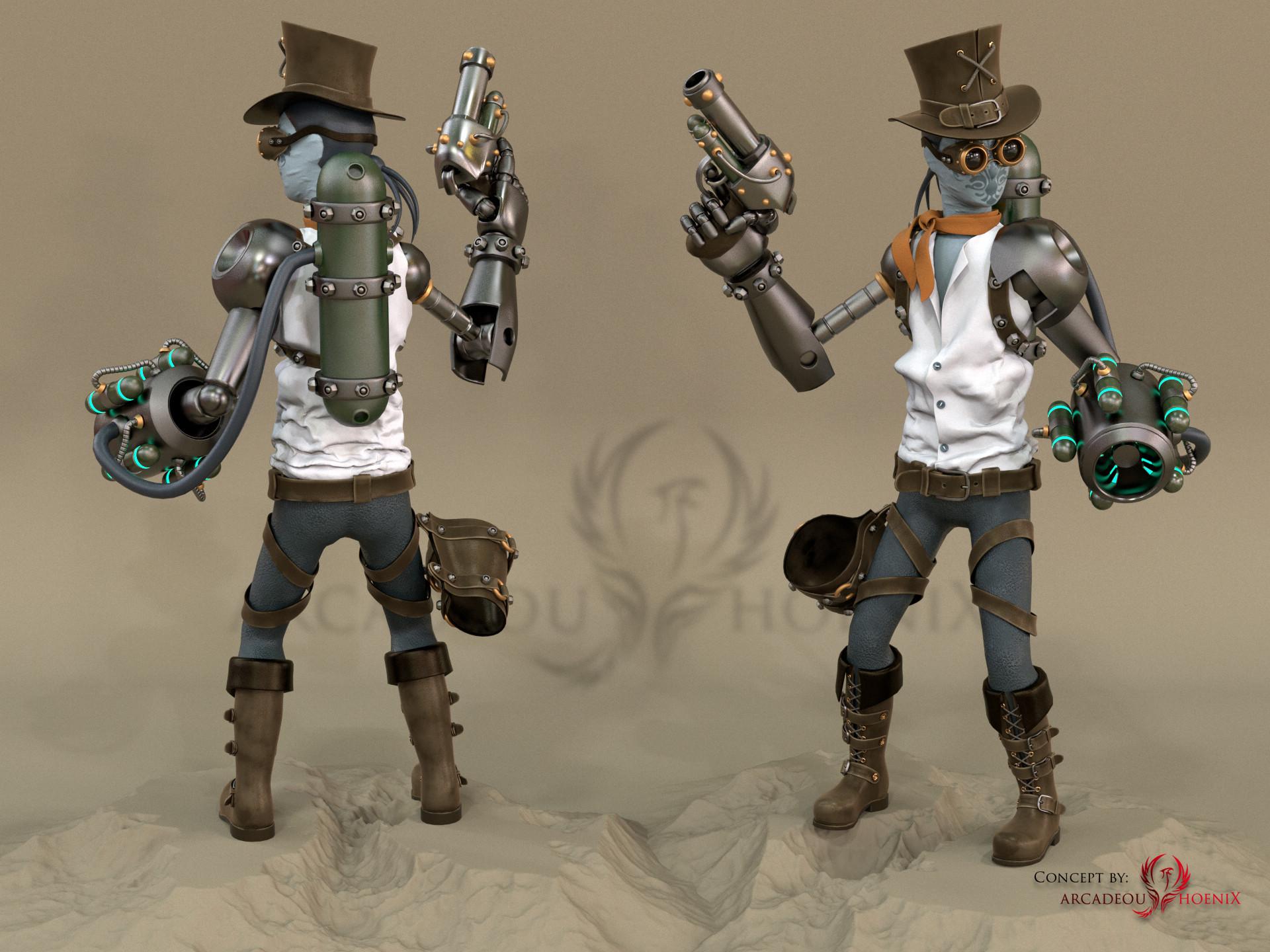 Arcadeous phoenix steampunk char 5