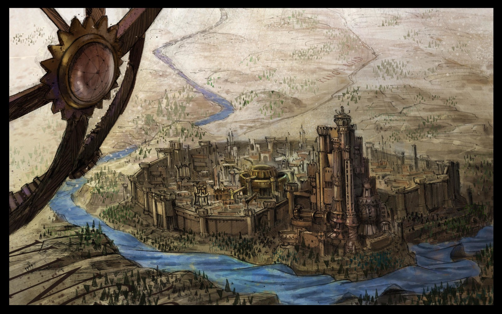 Game of Thrones Intro, King's Landing Development
