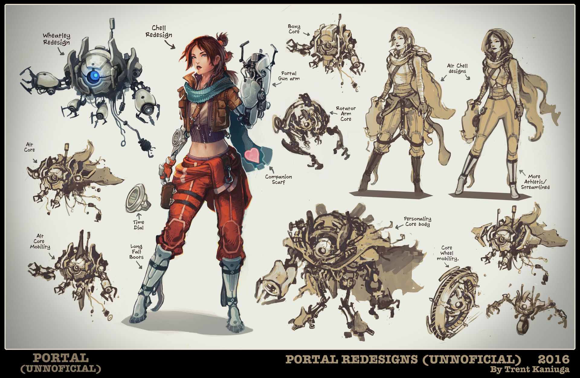 Character Design Best Book : Artstation portal concept art exploration trent kaniuga
