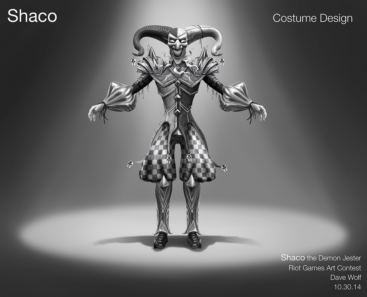 Dave wolf shaco costume design dw 03