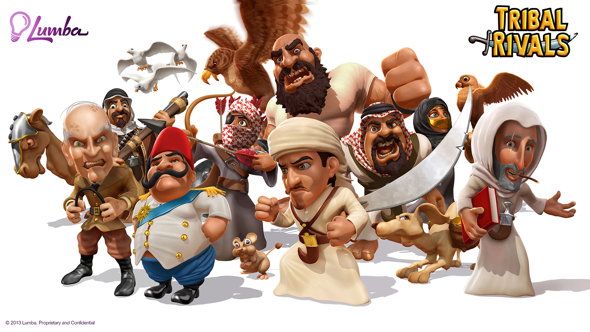 Tribal Rivals Characters
