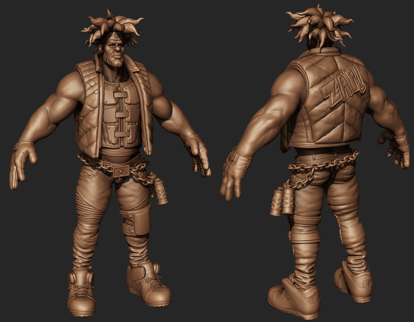 Character sculpt ready for retopo and texturing.