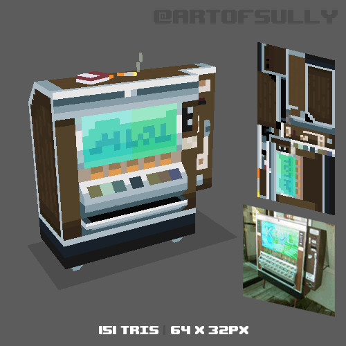 3D Pixel-Art Cigarette Machine (Commission)