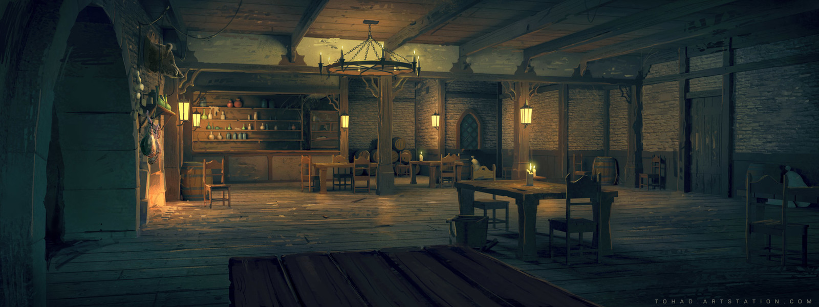 Netflix Castlevania Background : Tavern