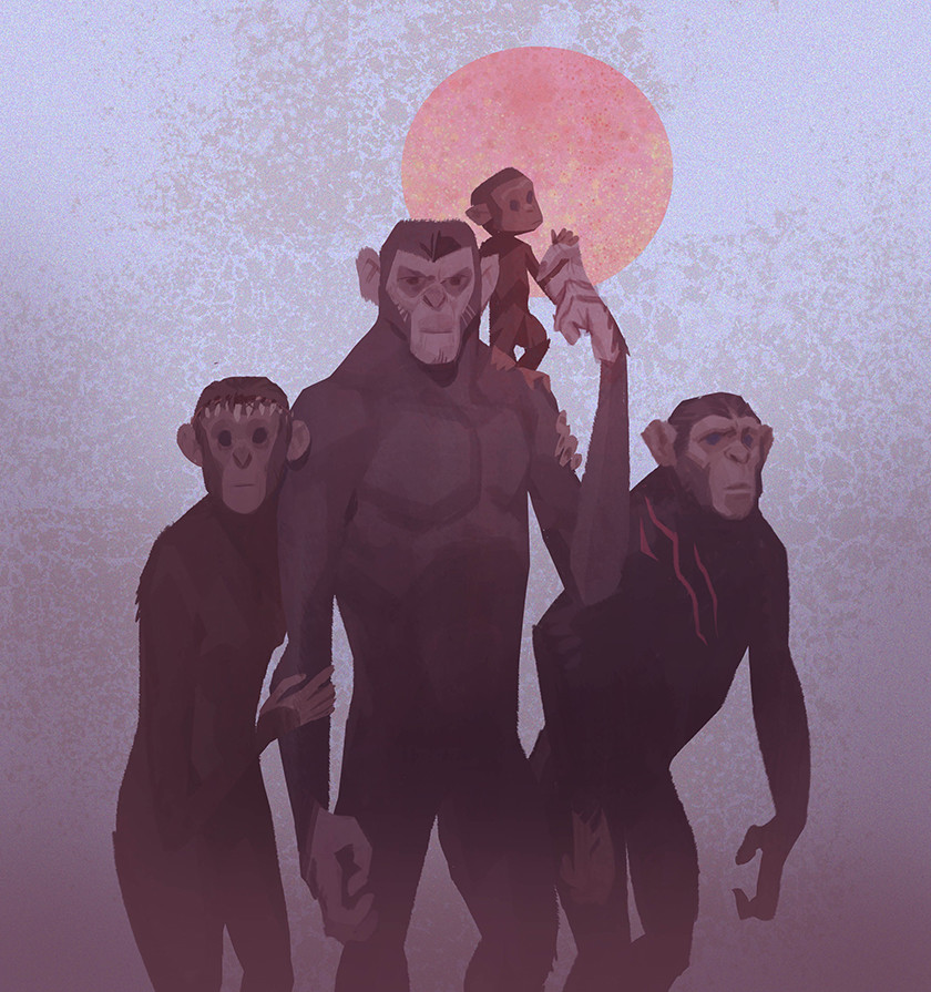 Rustam hasanov planet of the apes sketch3c