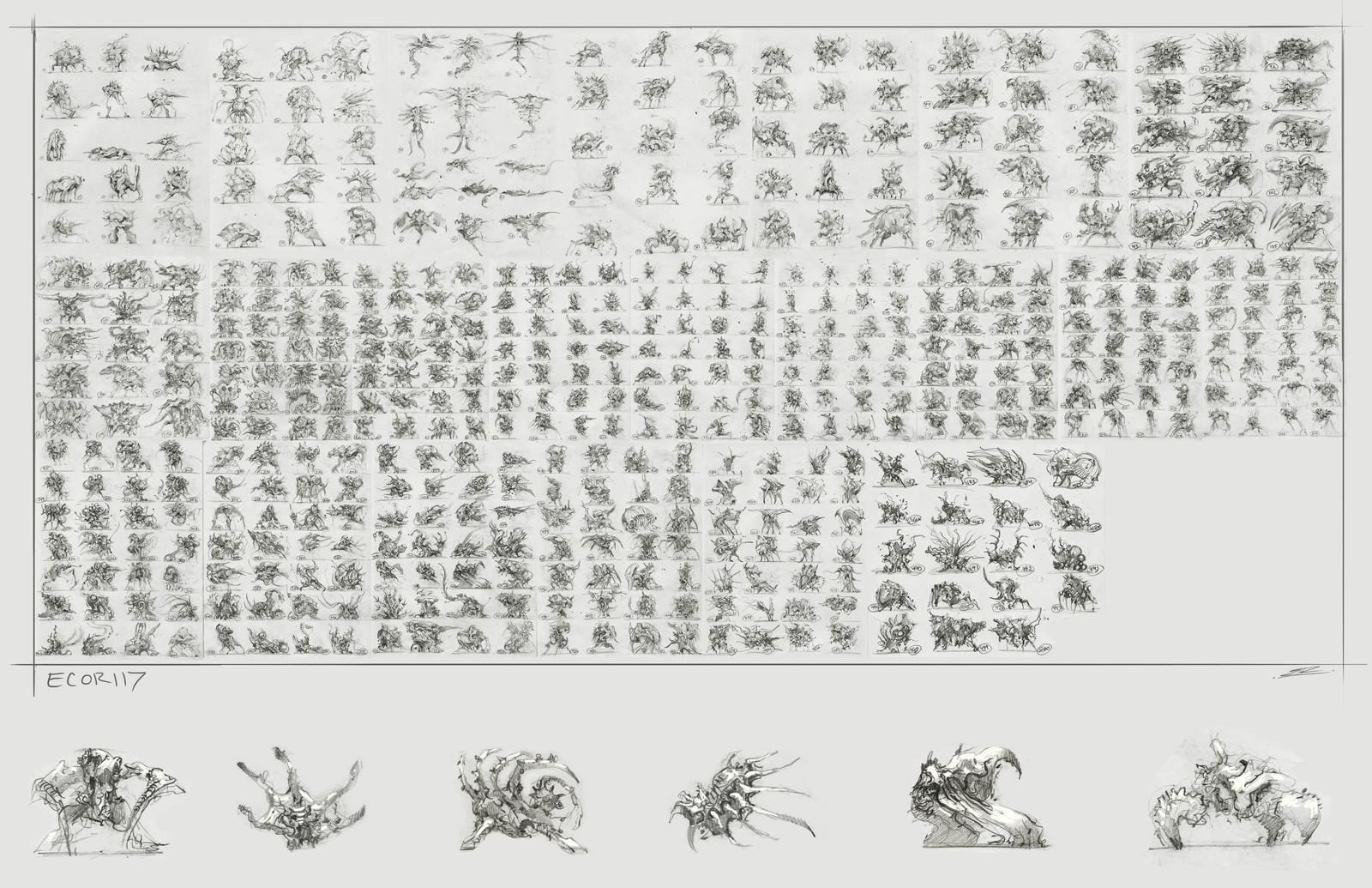 500 Creature Thumbnails
