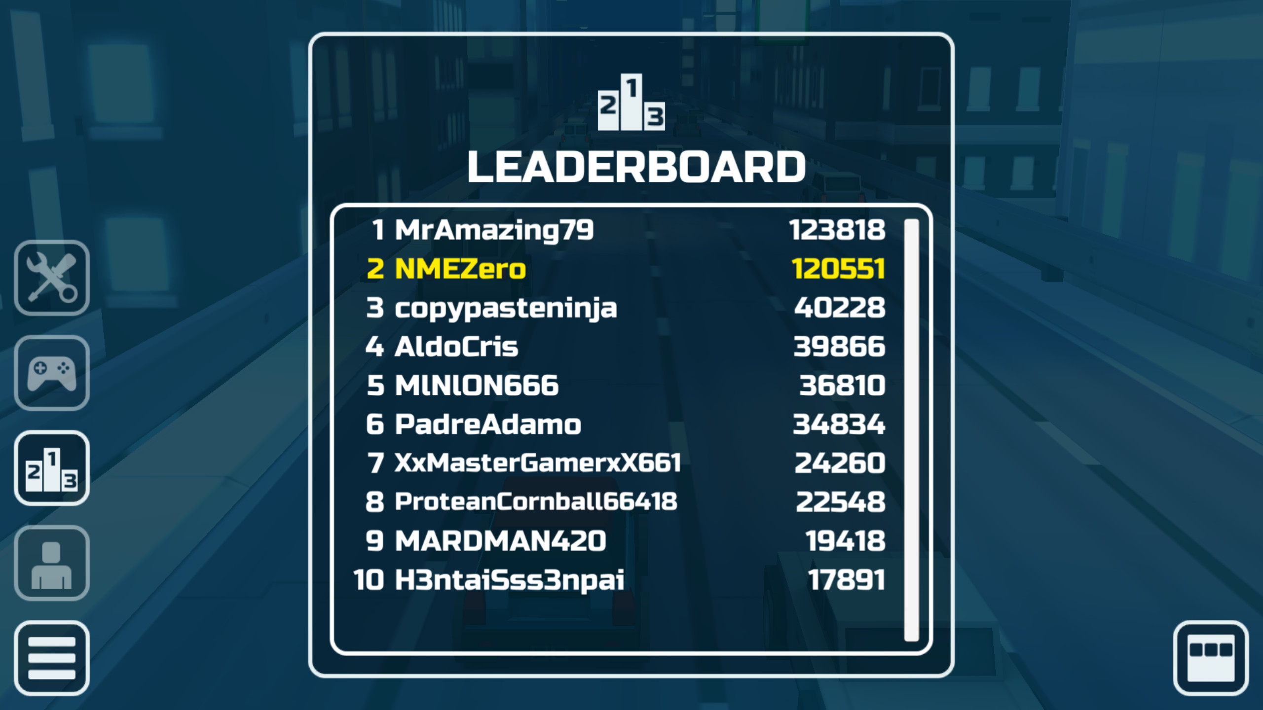 Leaderboard screen and icon