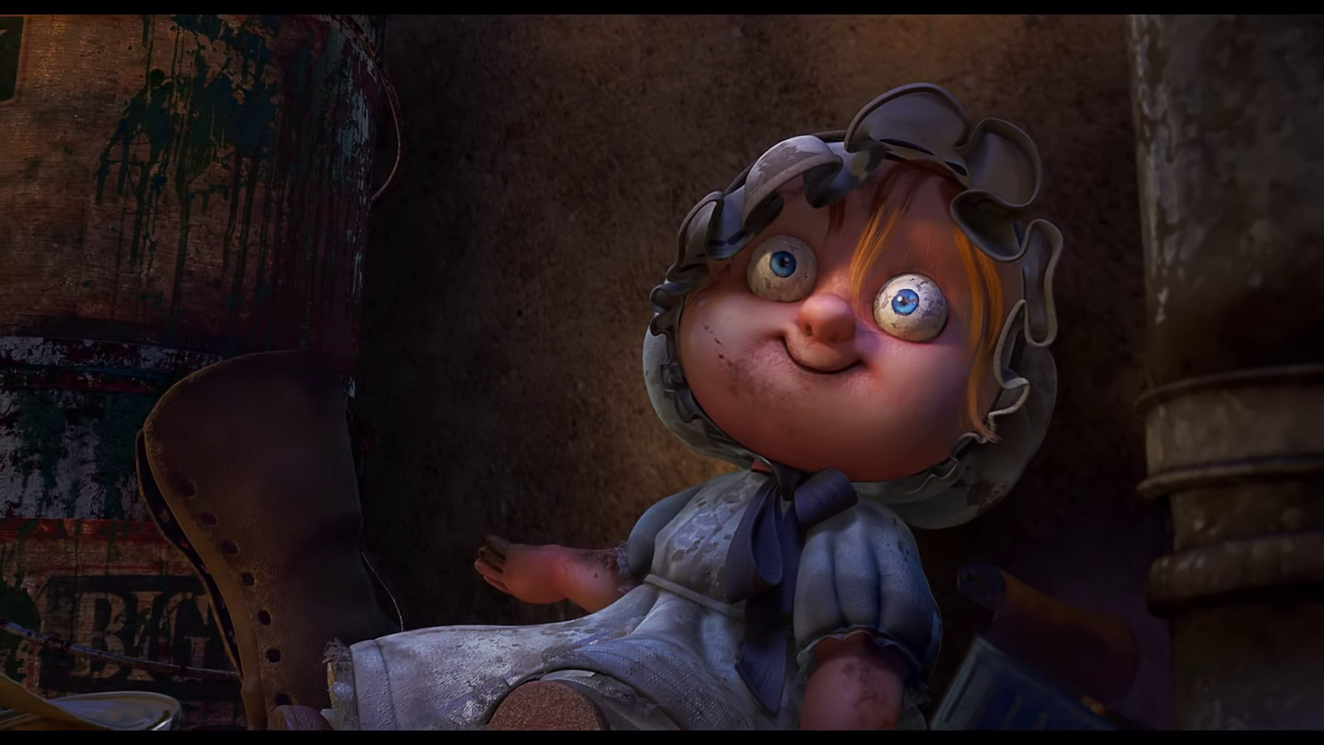 Nut Job 2 - Surfacing for Creepy Doll and Background Alley