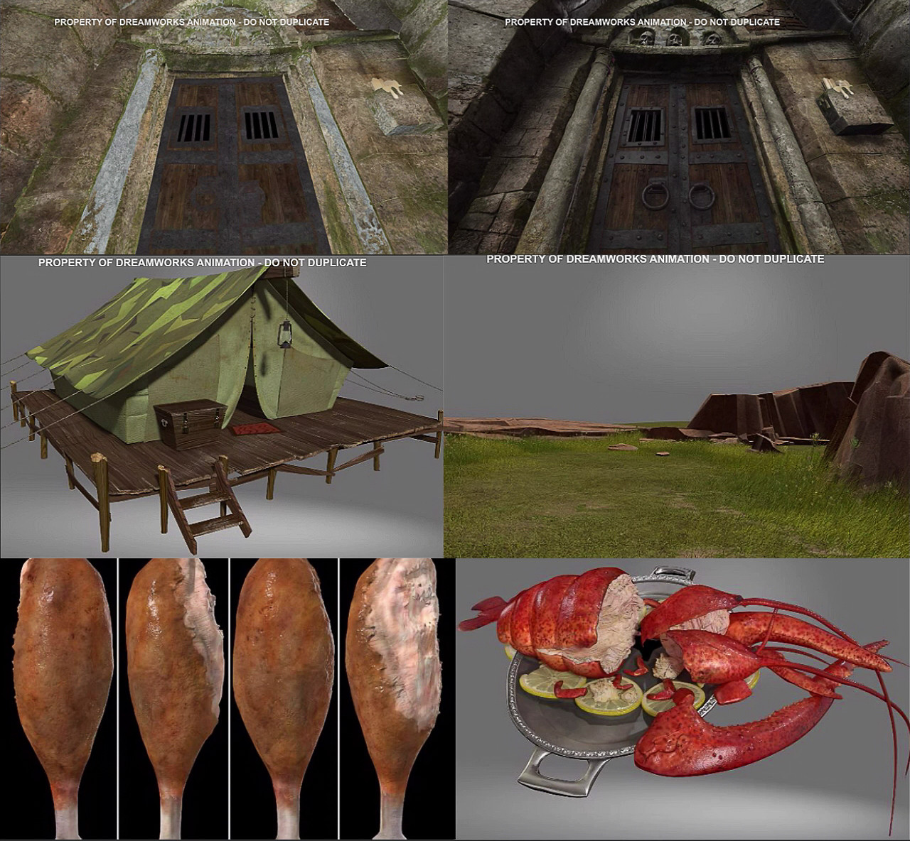 1st and 2nd image - Walls and Pillars for Puss in Boots The Three Diablos 