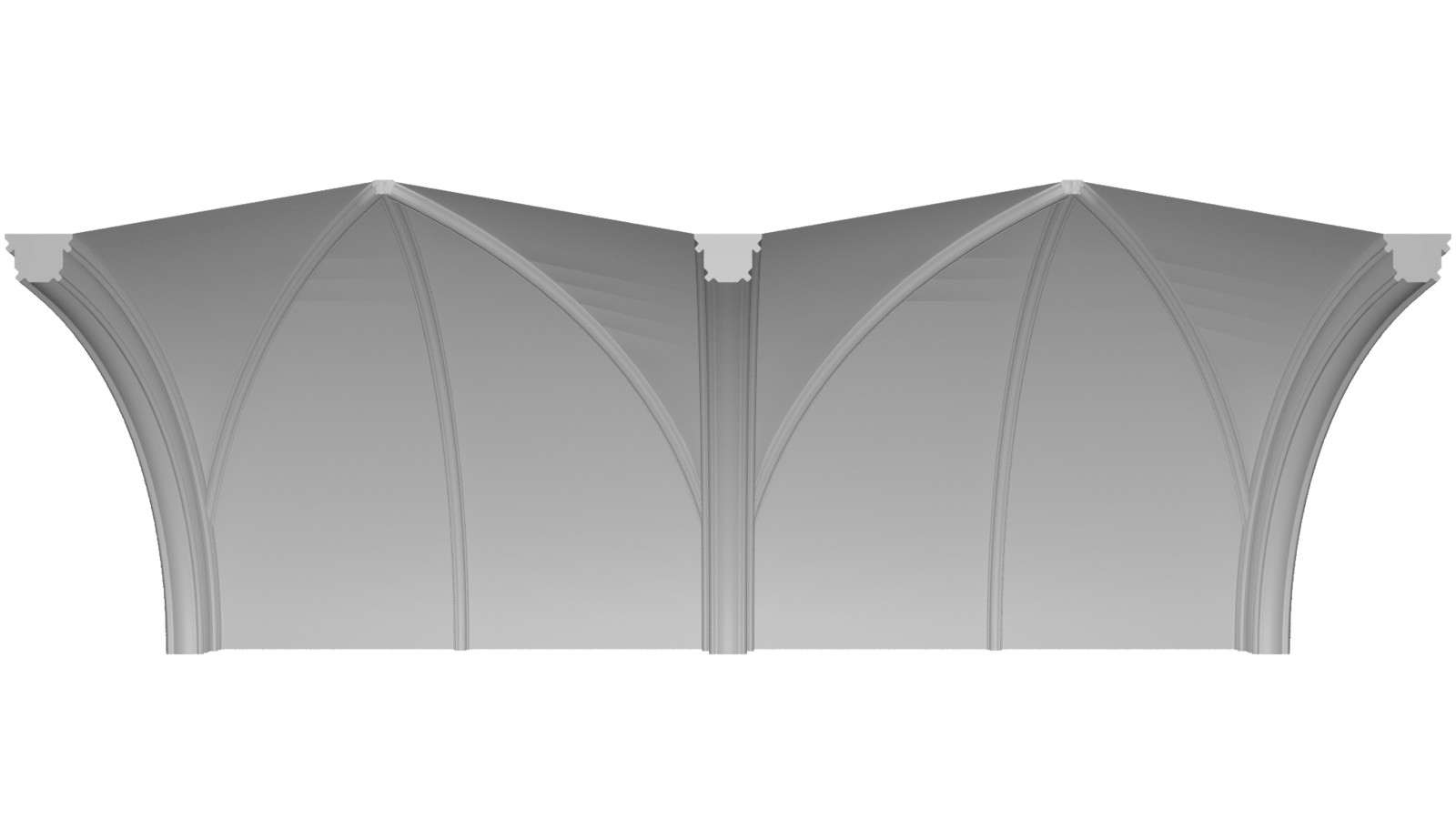 Top arches separated