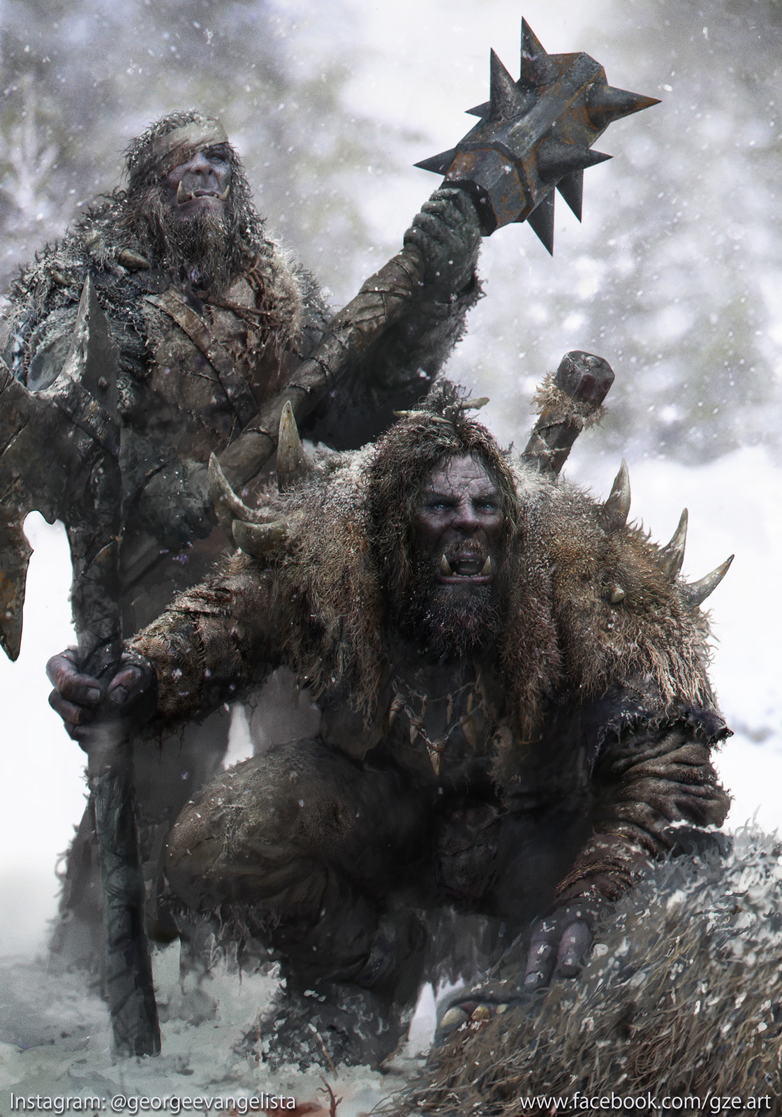 Snow Orc Hunters