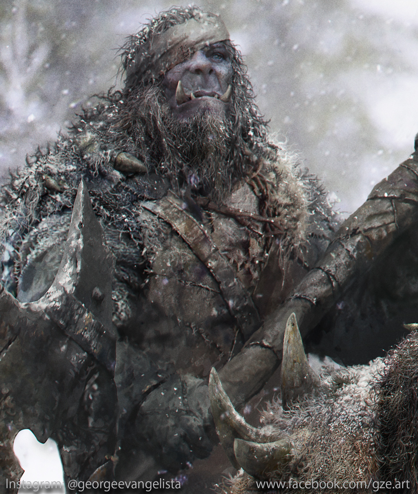 George evangelista snow orcs hunters close up 2