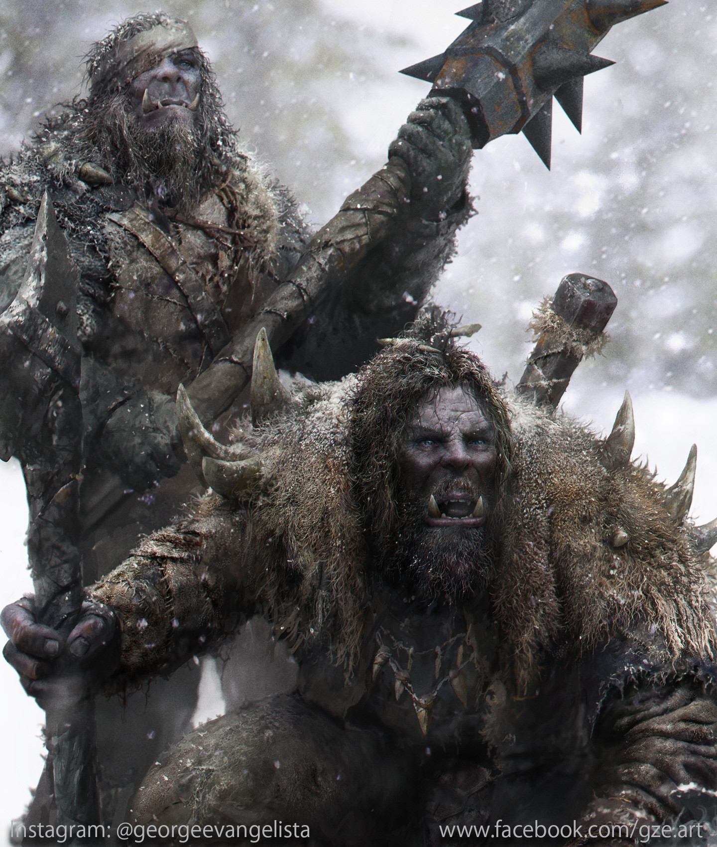 George evangelista snow orcs hunters close up 3
